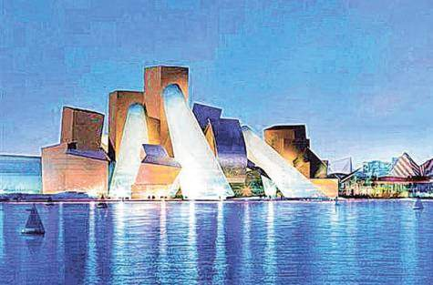 Saadiyat Cultural District in Abu Dhabi